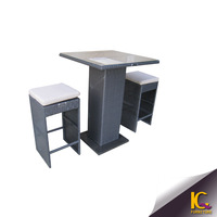 Top quality wicker outdoor bar set plastic product modern bar counter