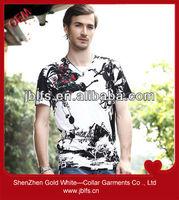 2013 new design men's printing tee shirt