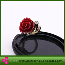 Fashion flower retro colorful female ring