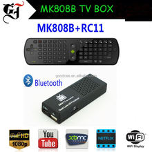 Cheap price MK808B support WIFI and Bluetooth with kodi preloaded free video ababic iptv box