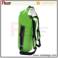 Wholesale Custom Logo Roll Top PVC Waterproof Backpack Dry Tube Bag for Floating Boating Outdoor Adventure