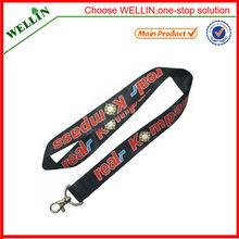personalizada impresa cordón de poliéster para la promoción zzd079