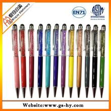 Crystal inner cheap ballpoint pen