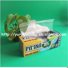 Manufacturer supply colorful box for plastic ziplock bag packaging