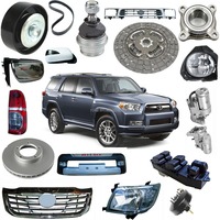 One-stop auto spare parts toyota hilux vigo parts with head tail fog lamp mirror bumper brake disc switch grille engine gear box