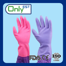 Waterproof winter use cleaning pvc household gloves oil resistance with CE