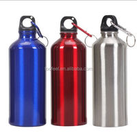400ml -750ml Aluminum/ Stainless Steel Sports Water Bottles with Carabiner