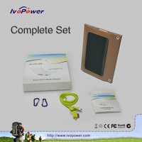 Ivopower 10w outdoor sport portable solar panel bank charger dual USB output for cell phone
