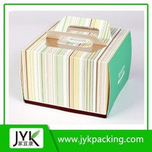 party paper cake box with handle, paper cardboard bakery boxes Bread bag CB150509