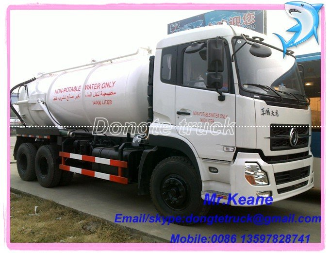 Nouveau modèle dongfeng 6 * 4 de la fosse septique camion