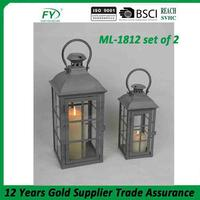 Hot sale lantern for candle ML-1812 set of 2
