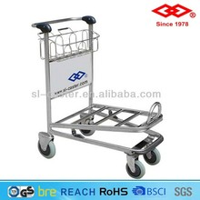 Airport hand trolley with brake