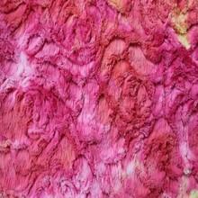 pink tie dye pv plush felt fabric