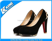 Wholesale Metal Decorative Fashion Lady High Heel Platform Shoes