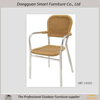 2015 outdoor synthetic rattan wicker dining chair