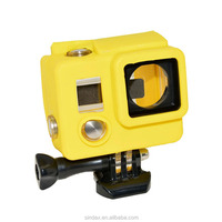 Sport Camera Silicone Case for Go pro HD Hero3+ Plus Yellow Standard Case Replacement Housing for Go pro hero3+