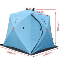 High quality triple layer ice fishing shelter for 3-4 persons