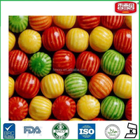 Watermelon Ball Shaped Colorful Chewing Gum Center Filled Bubble Gum