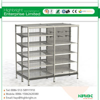 cheap priced grocery store wire metal supermarket storage gondola shelving