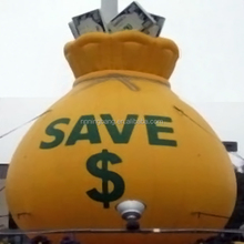 NingBang inflatable yellow money save can for outdoor advertising, display or sale