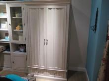 2 doors & 2 drawers space-saving children room use white wood Wardrobe