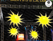 Wholesale factory price inflatable hanging LED decoration sun balloons (BMLD433)