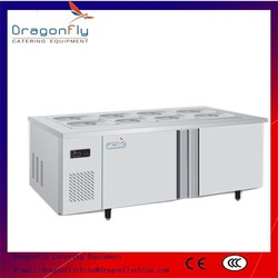 CE Approved Fan Cooling Side by Side Commercial Workbench for Restaurant