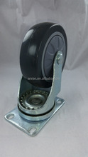 Hot sale high quality 3 4 5 inch casters grey PVC wheel Fixed/Swivel truckle casters with brake/no brake made in China