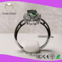 Trade assurance supplier 925 silver natural sapphire indian silver ring