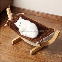 wooden cat hammock pet cat bed pet product