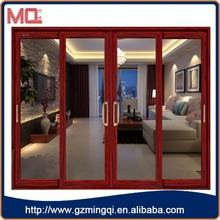 Aluminum lowes sliding screen door/double glass door MQ-SD-8