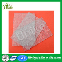 high quality excellent light transmitting construction material 3mm embossed solid sheet