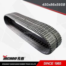 rubber crawler for crawler loader 450*86*links