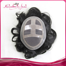Kimberlyhair Thin skin high quality natural lace with pu OEM human hair mens wigs with 6*8