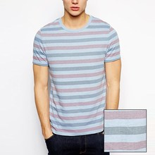 china supplier full print striper t shirt for man