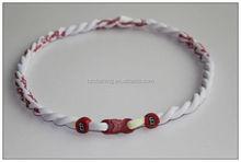 St. Louis Cardinals White Double Rope Tornado Titanium Sports Necklaces