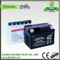Dry charged motorcycle 12v 4ah battery and charger
