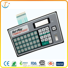 stickers Keypads keyboard of PET/PC material Metal dome keyboard membrane switch remote control switch panel