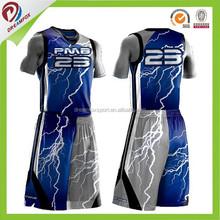 2015 fashion Custom team sublimated basketball uniforms basketball tops
