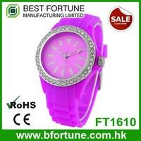 FT1610 Summer sale quartz movement 3 atm water resistant violet women's watch