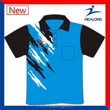 Healong Dye-Sublimation Printing Free Sample Polo Shirt Sublimation