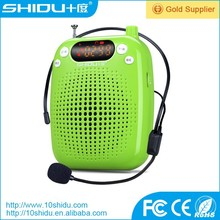 Candy colors mini portable amplifier with high sensitivity microphone support TF /USB MP3 music