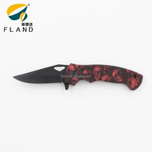 Skull pattern PP handle stainless steel mini pocket knives