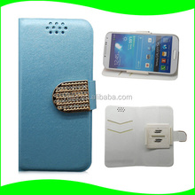 Credit Card Design Universal Case Cover for 4.7 Inch Cell Phone with Rotated Clip