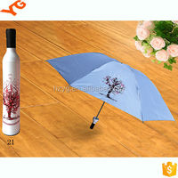 Fashion fabric with flowers come out and disappear when it is wet and dry/portable 3 folding sun parasols