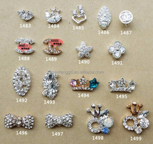 2015 hot selling shiny 3D rhineston nail art decoration wholesale/beauty salon accessories
