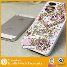 Direct buy China hot rhinestone mobile phone cover for iphone, smartphone accessories 2014