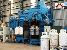 Gas Cylinder Shot Blasting Machine /Metal Hook Through Shot Blast Machine/hook Type Steel Structure Work piece Surface Cleaning