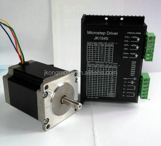 1.8 57mm (NEMA23)2 phase square hybrid big stepper motor JK57HS76-1006