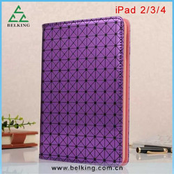 Diamond Flip Stand Leather Case for ipad 4 3 2